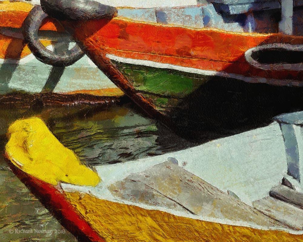 Docked Boats Hoian Vietnam Download Print Richard Neuman Two Bananas Art