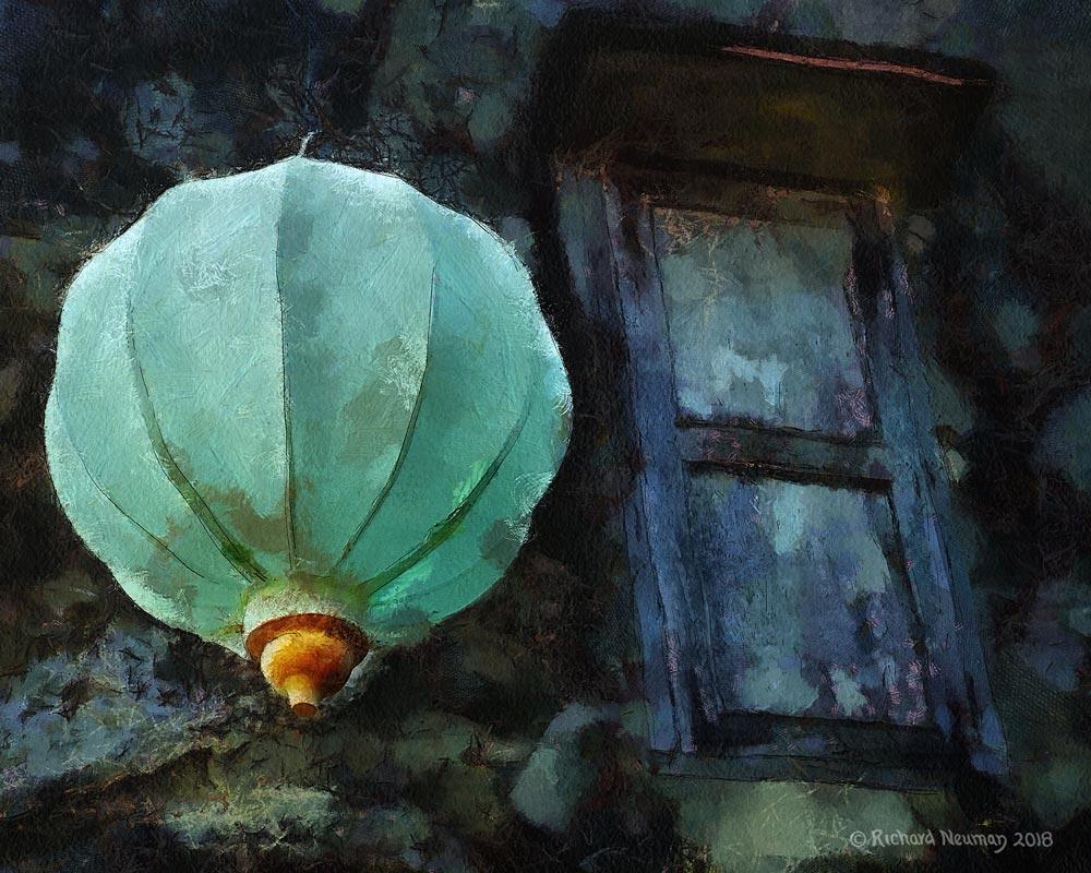 Turquoise Lantern And Door Hoian Vietnam Download Print Richard Neuman Two Bananas Art