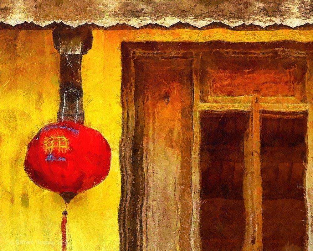 Red Lantern Yellow House Hoian Vietnam Download Print Richard Neuman Two Bananas Art