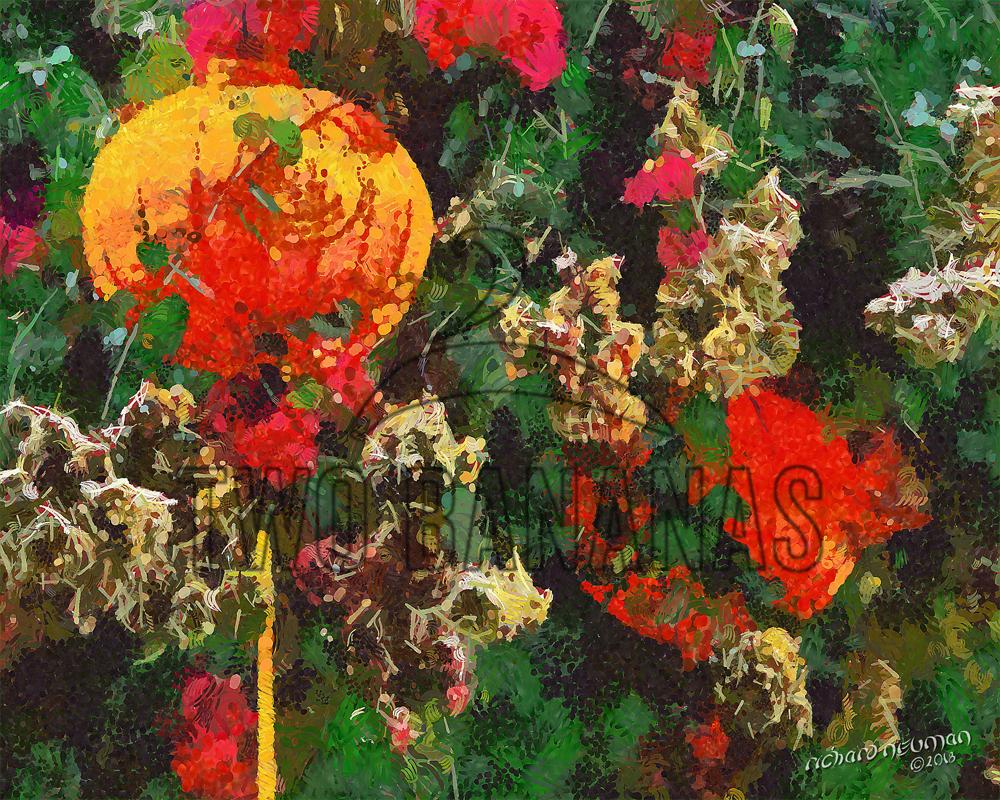 Lanterns Amongst The Flowers Taoyaun Taiwan DIY Download Print Millennial Impressionist Richard Neuman Two Bananas Art