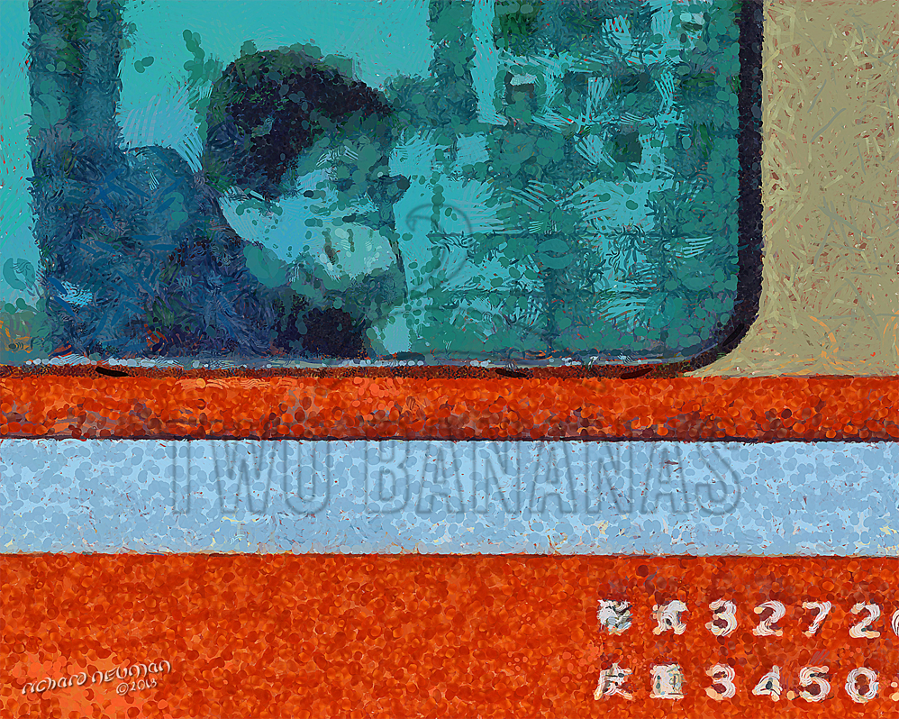 Train Dreamer Taoyaun Station Taiwan DIY Download Print Millennial Impressionist Richard Neuman Two Bananas Art