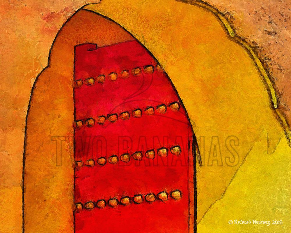 Forbidden City Red Doorway Beijing China Download Print Richard Neuman Two Bananas Art