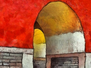 Asian Arches Abstract Art Downloads For Home Office Decor Mostly Reds