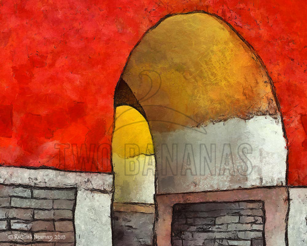 Colorful Arch At Chang Tomb China Download Print Richard Neuman Two Bananas Art