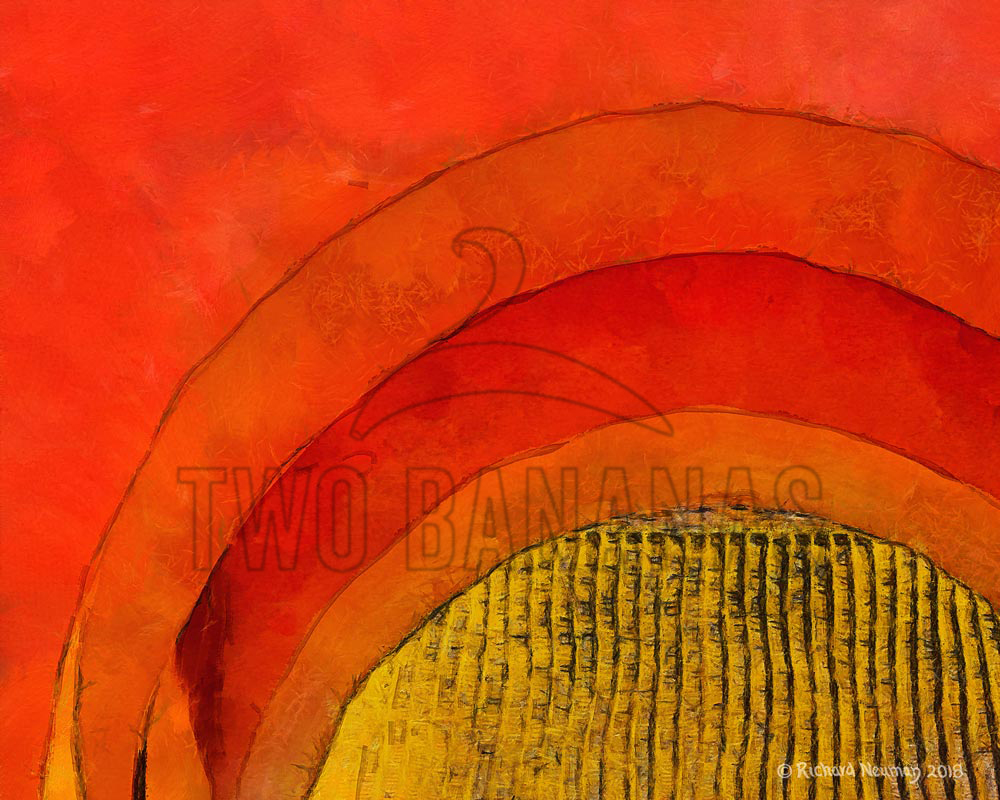 Yellow Roof Through Red Temple Arch Beijing China Download Print Richard Neuman Two Bananas Art