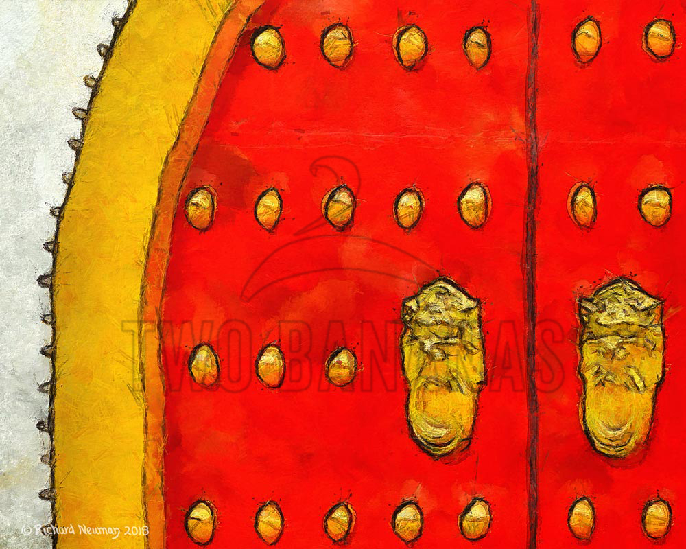 Red Gate In Temple White Wall Kaohsiung Taiwan Download Print Richard Neuman Two Bananas Art