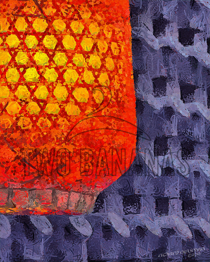 Warm Glow Lantern Xian China DIY Download Print Millennial Impressionist Richard Neuman Two Bananas Art