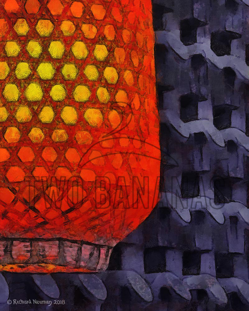 Warm Glow Lantern Xian China Download Print Richard Neuman Two Bananas Art