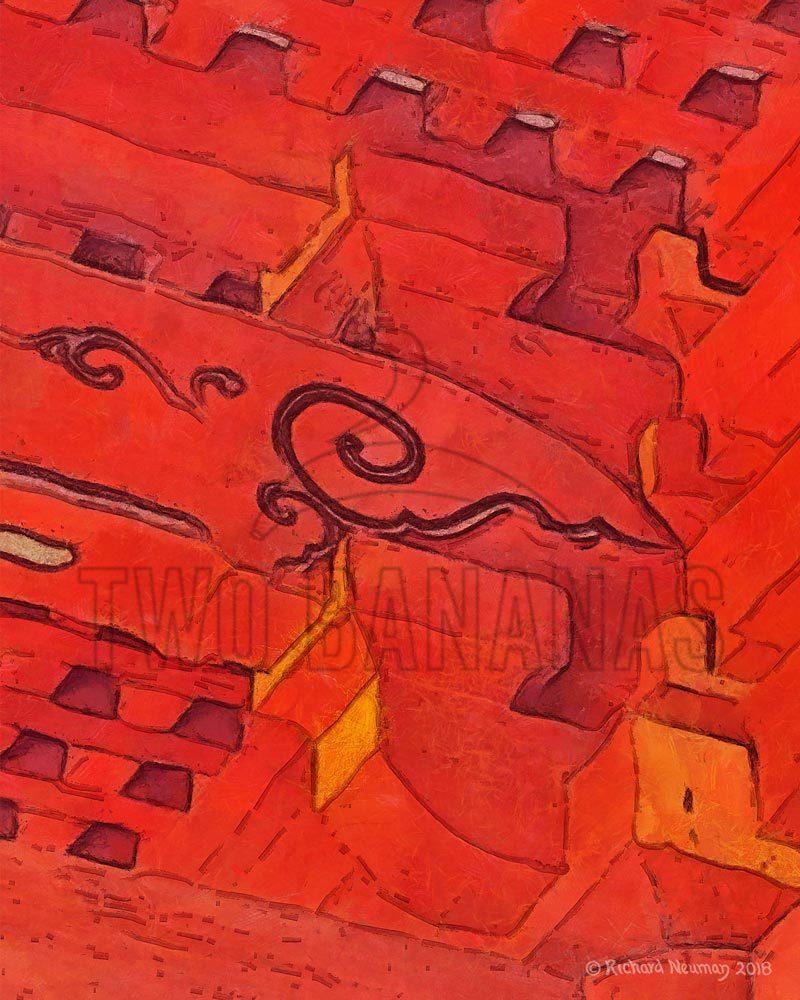 Red Ceiling Views Of Todaji Temple Nara Japan Download Print Richard Neuman Two Bananas Art