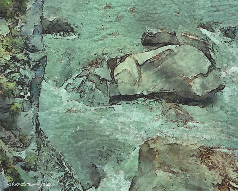 Swirling Water Mountain River Taroko Park Taiwan Download Print Richard Neuman Two Bananas Art