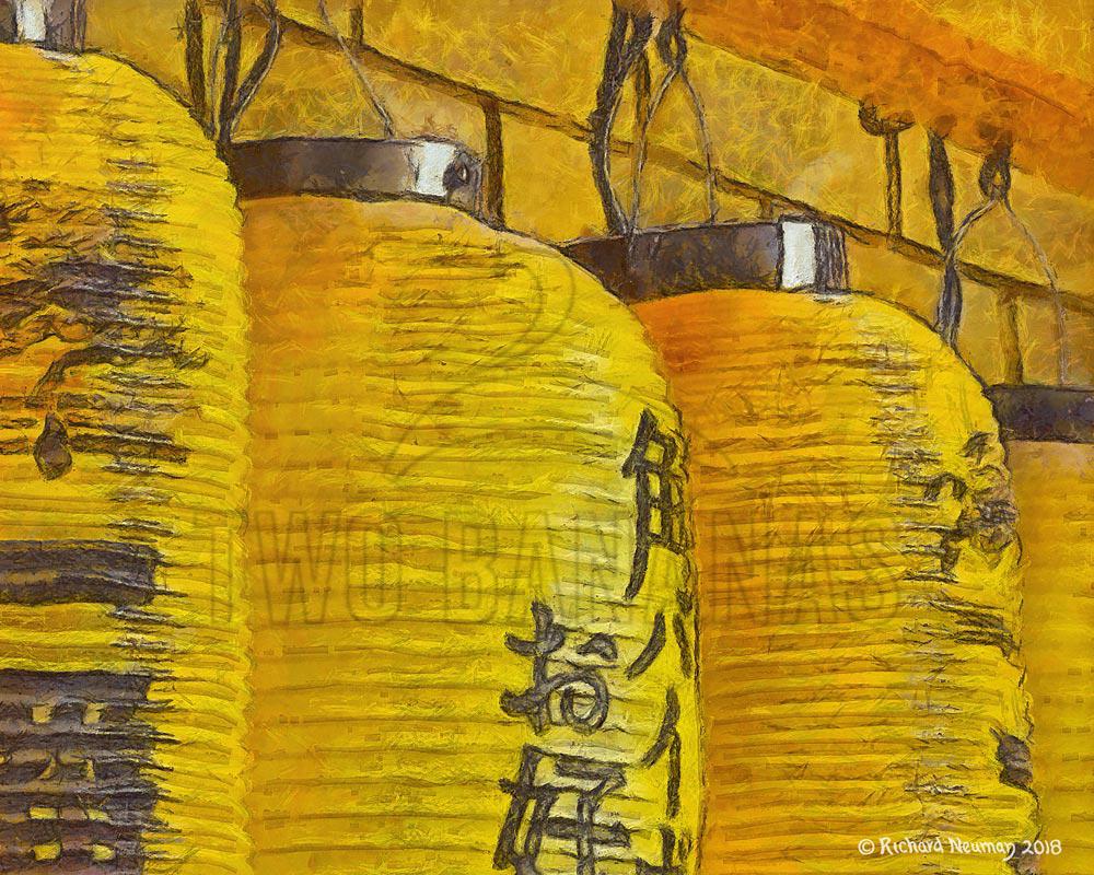 Yellow Lanterns In A Row Download Print Richard Neuman Two Bananas Art