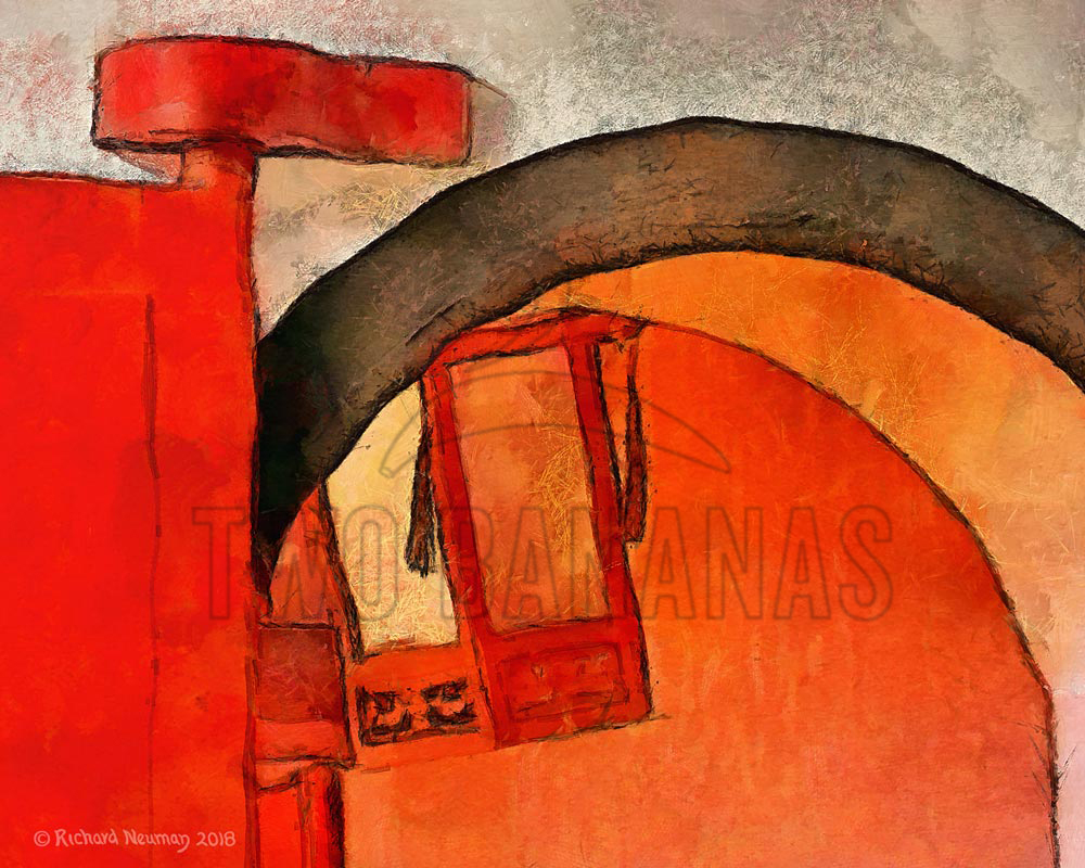 Little Black Archway In Red Temple Pingtung Taiwan Download Print Richard Neuman Two Bananas Art