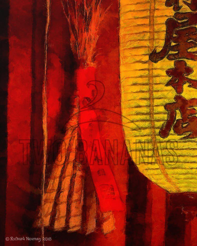 Gold Lantern Shimekazari Kyoto Japan Download Print Richard Neuman Two Bananas Art
