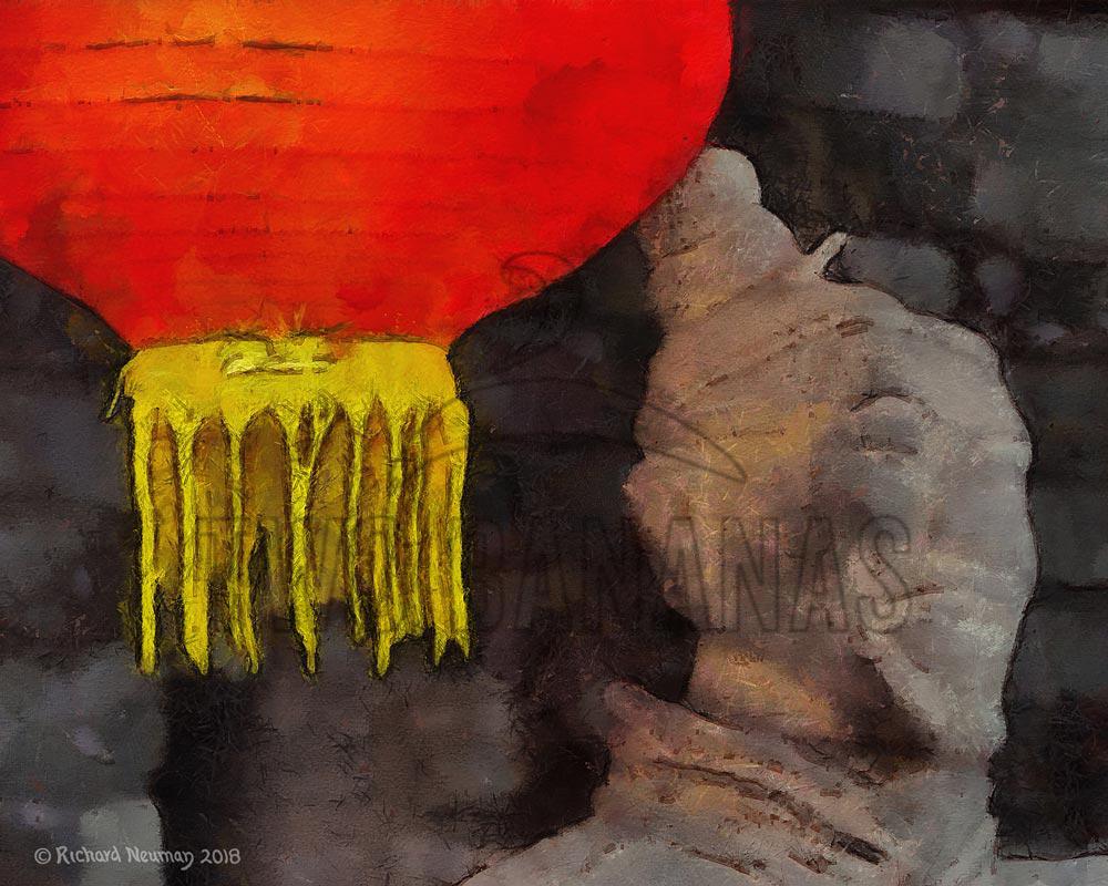 Red Lantern Terracotta Warrior Xian China Download Print Richard Neuman Two Bananas Art