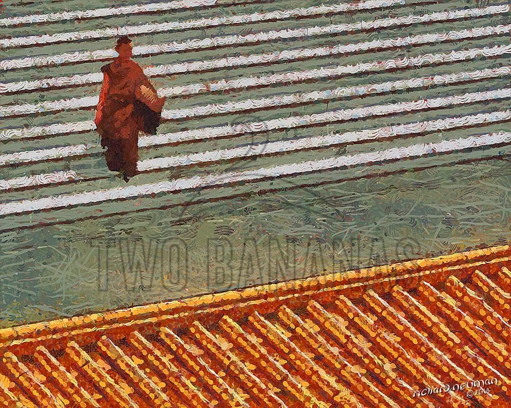 Steps And Tiles Fo Guang Shan Monastery Kaohsiung Taiwan DIY Download Print Millennial Impressionist Richard Neuman Two Bananas Art