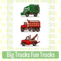 Big Trucks Fun Trucks Link Richard Neuman Two Bananas Art Whimsical Images Zazzle Items