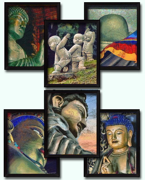 Buddha Big Small Impressionist Art DIY Download Millennial Impressionist Paintings Richard Neuman Two Bananas Art