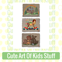 Cute Art Of Kids Stuff Link Richard Neuman Two Bananas Art Whimsical Toys Teddy Bears Noahs Ark Images Zazzle Items