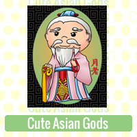 Cute Asian Gods Link Richard Neuman Two Bananas Art Whimsical Images Zazzle Items