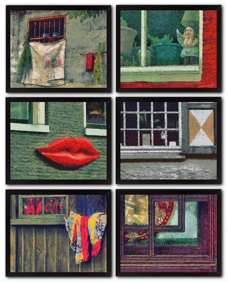 Interesting Window Patterns Impressionist Art DIY Download Millennial Impressionist Paintings Richard Neuman Two Bananas Art