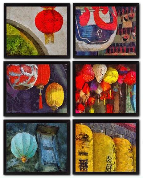 6 Japanese Lantern DIY Download Millennial Impressionist Paintings Richard Neuman Two Bananas Art