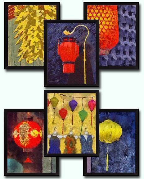 6 Chinese Lantern DIY Download Millennial Impressionist Paintings Richard Neuman Two Bananas Art