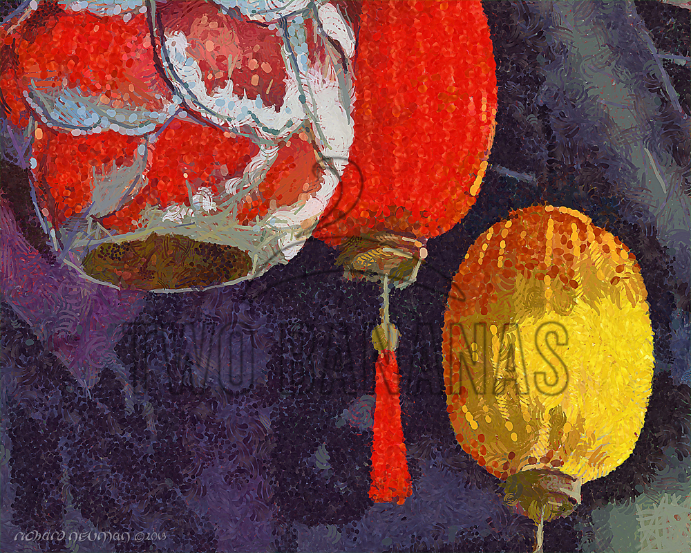 Fancy Lanterns Hoian Vietnam DIY Download Print Millennial Impressionist Richard Neuman Two Bananas Art