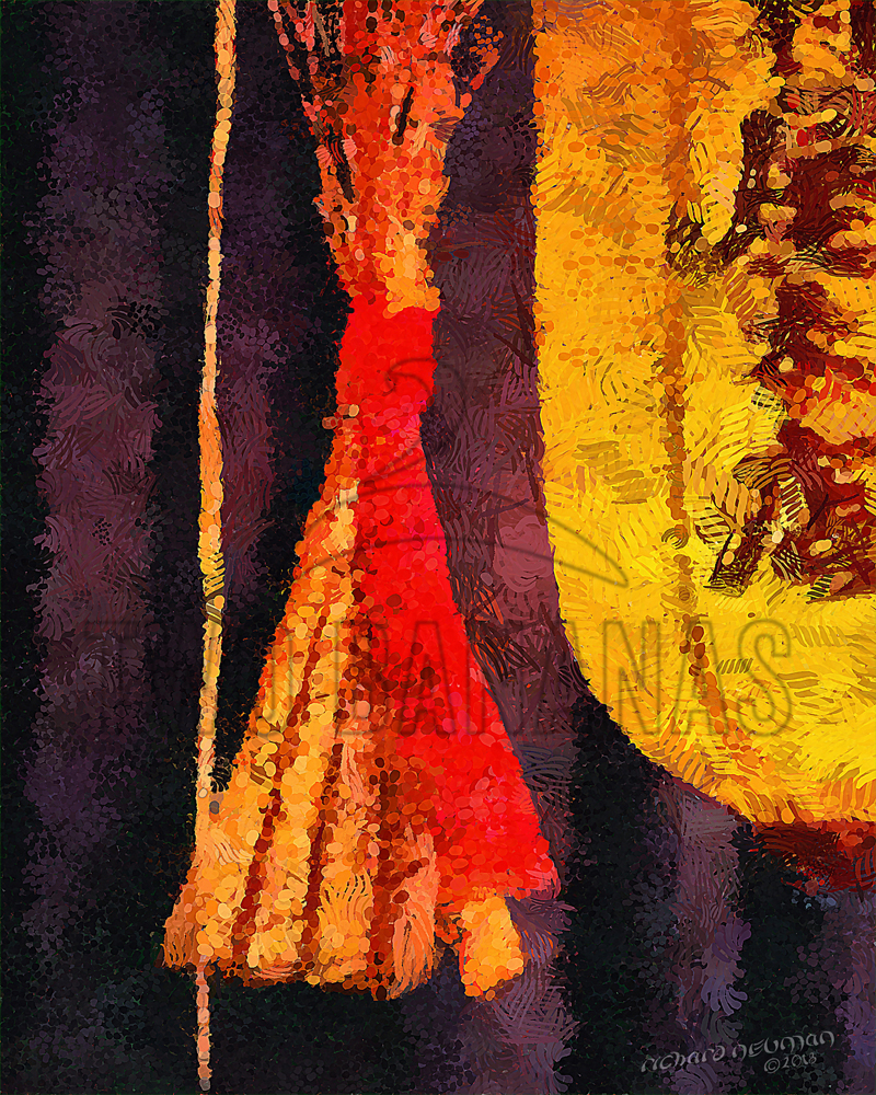 Gold Lantern Shimekazari Kyoto Japan DIY Download Print Millennial Impressionist Richard Neuman Two Bananas Art