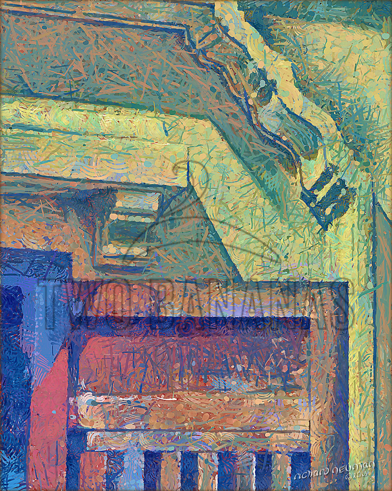 Wood Door In Yellow Wall Hoian Vietnam DIY Download Print Millennial Impressionist Richard Neuman Two Bananas Art