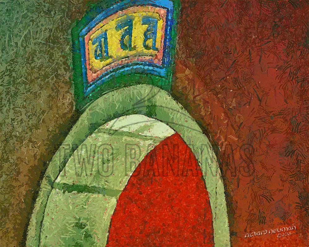 Arch Guiyuan Temple Wuhan China DIY Download Print Millennial Impressionist Richard Neuman Two Bananas Art