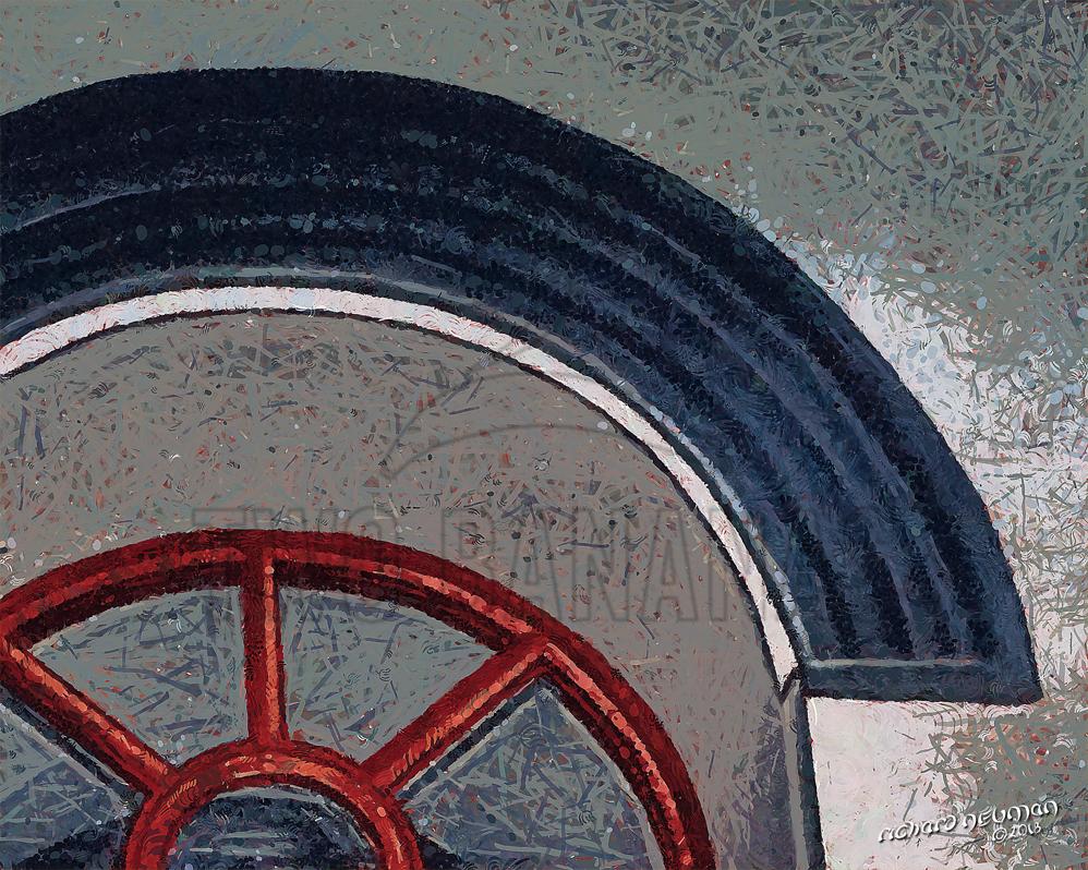 Red Window Drum Tower Xian China DIY Download Print Millennial Impressionist Richard Neuman Two Bananas Art