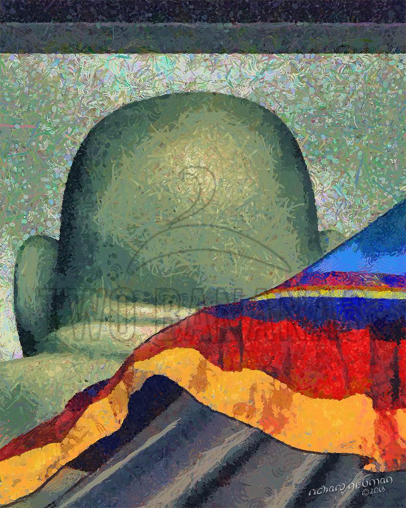Behind Buddha Pingtung Taiwan DIY Download Print Millennial Impressionist Richard Neuman Two Bananas Art