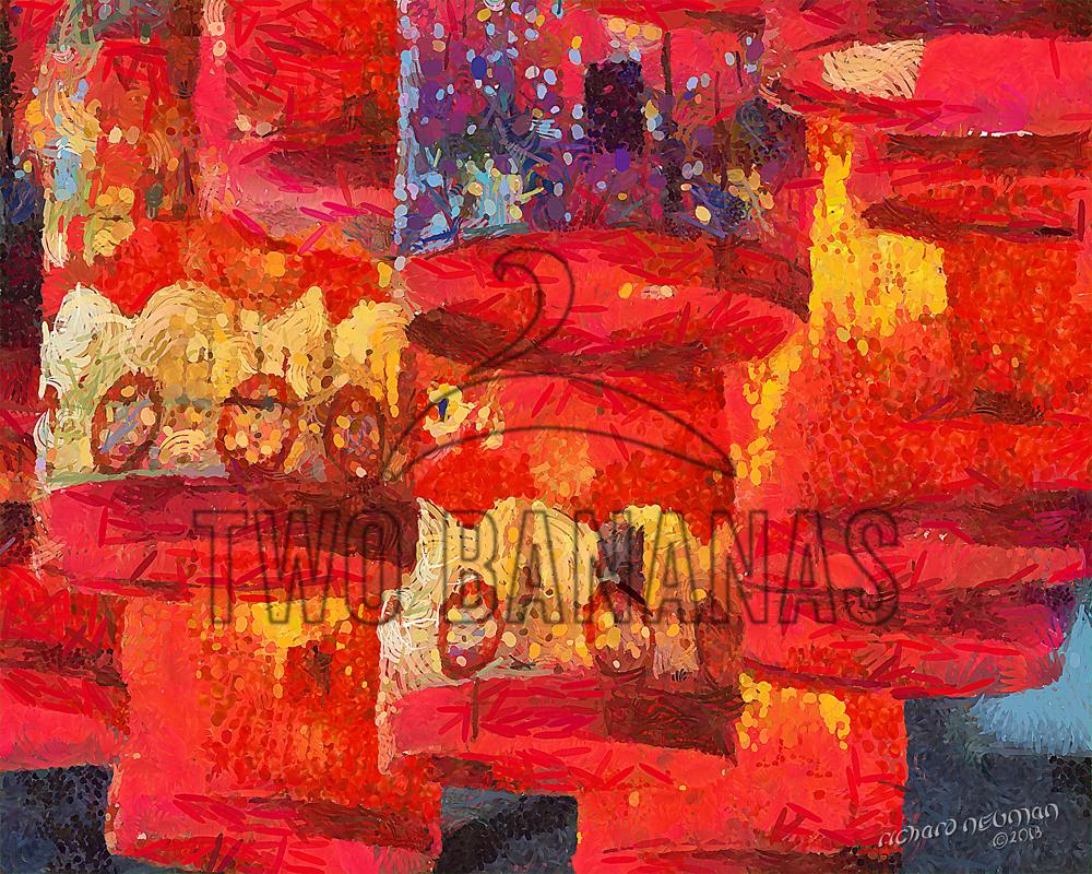Night Market Lanterns Hoian Vietnam DIY Download Print Millennial Impressionist Richard Neuman Two Bananas Art