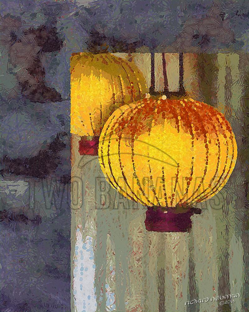 Linn Family Garden Lanterns Banqiao Taiwan DIY Download Print Millennial Impressionist Richard Neuman Two Bananas Art
