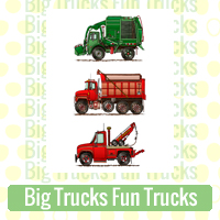 Big Trucks Fun Trucks Link Richard Neuman Two Bananas Art Whimsical Images Zazzle Items