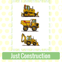 Just Construction Link Richard Neuman Two Bananas Art Whimsical Diggers Dozers Cranes Trucks Zazzle Items