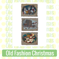 Old Fashion Christmas Link Richard Neuman Two Bananas Art Whimsical Currier Ives Like Images Zazzle Items