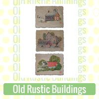 Old Rustic Buildings Link Richard Neuman Two Bananas Art Whimsical Church School Grist Mill Images Zazzle Items