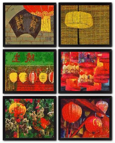 6 Vietnamese Lantern DIY Download Millennial Impressionist Paintings Richard Neuman Two Bananas Art