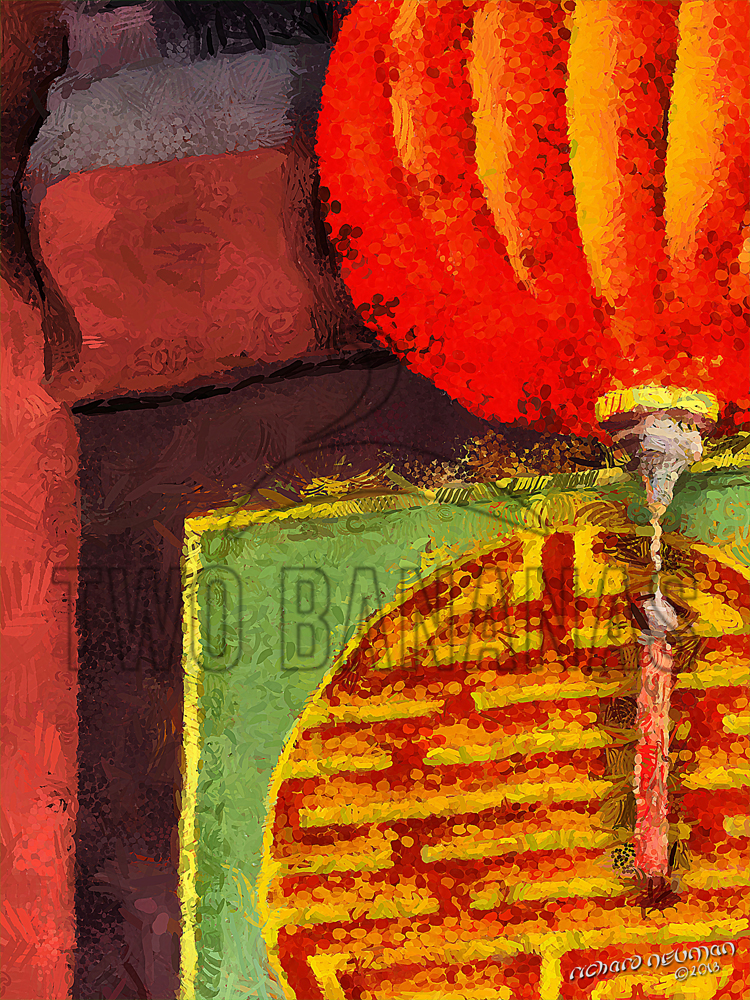 Assembly Hall Lantern Hoian Vietnam DIY Download Print Millennial Impressionist Richard Neuman Two Bananas Art