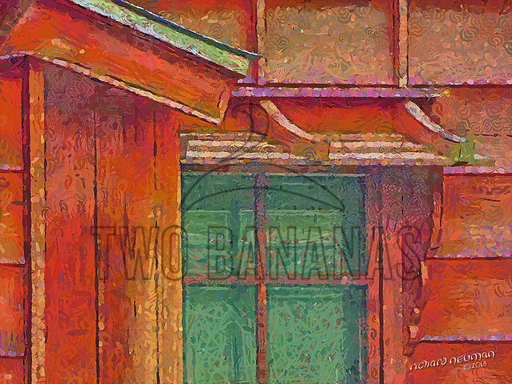 House Of Rectangles Kanazawa Japan DIY Download Print Millennial Impressionist Richard Neuman Two Bananas Art