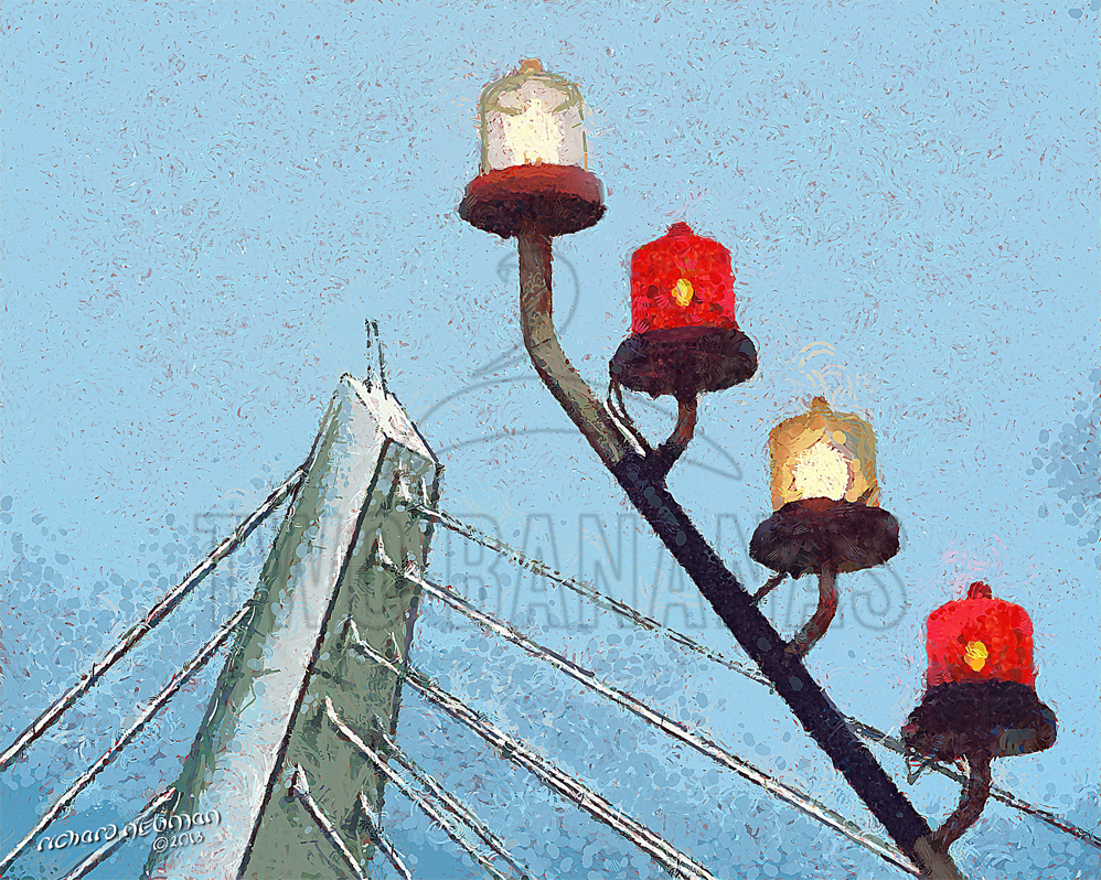 Love Bridge And Harbor Lights Taipei TaiwanDIY Download Print Millennial Impressionist Richard Neuman Two Bananas Art