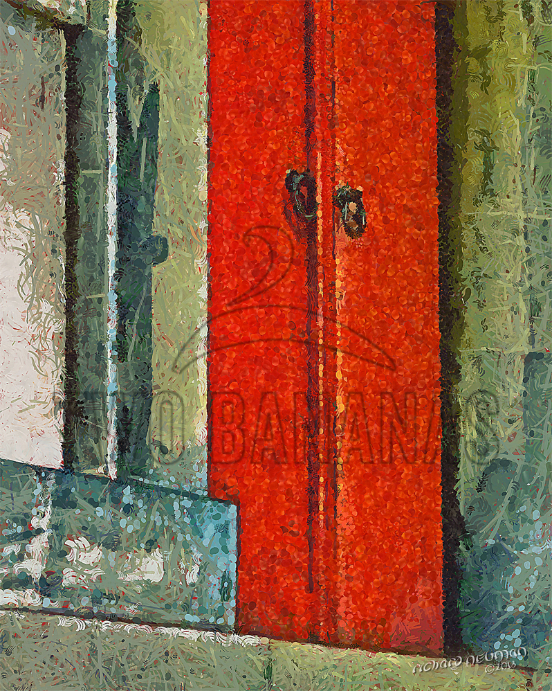 Wood Doors Hokoku Shrine Osaka Japan DIY Download Print Millennial Impressionist Richard Neuman Two Bananas Art