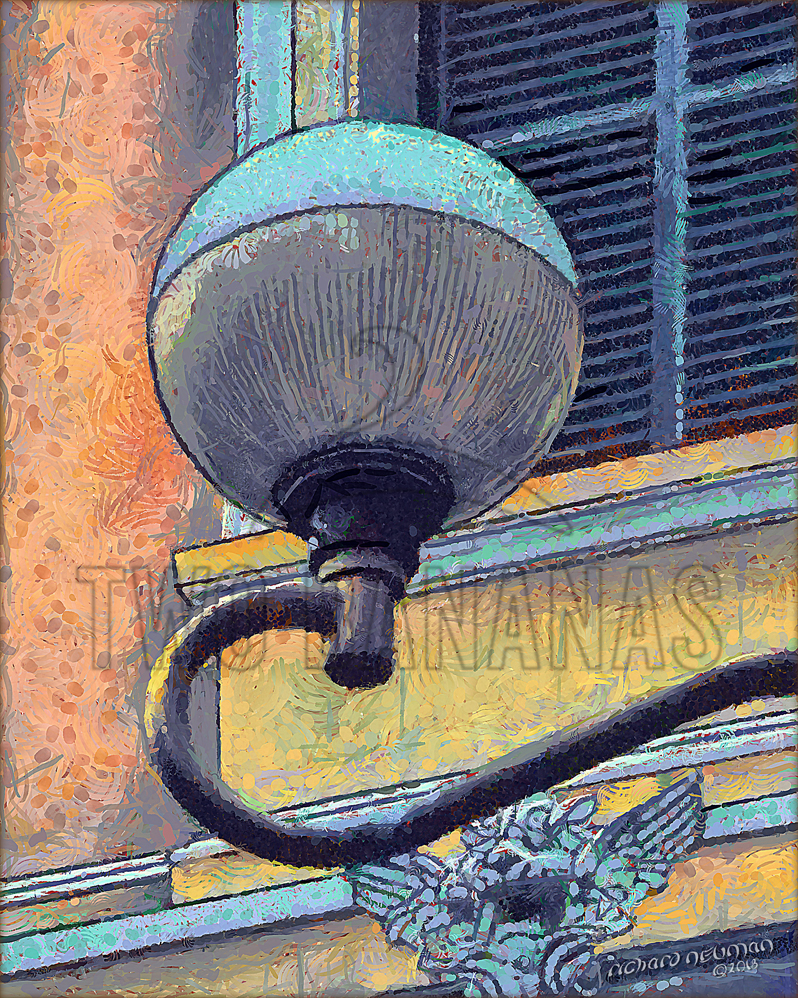 Lamp Main Post Office Ho Chi Minh City Vietnam DIY Download Print Millennial Impressionist Richard Neuman Two Bananas Art