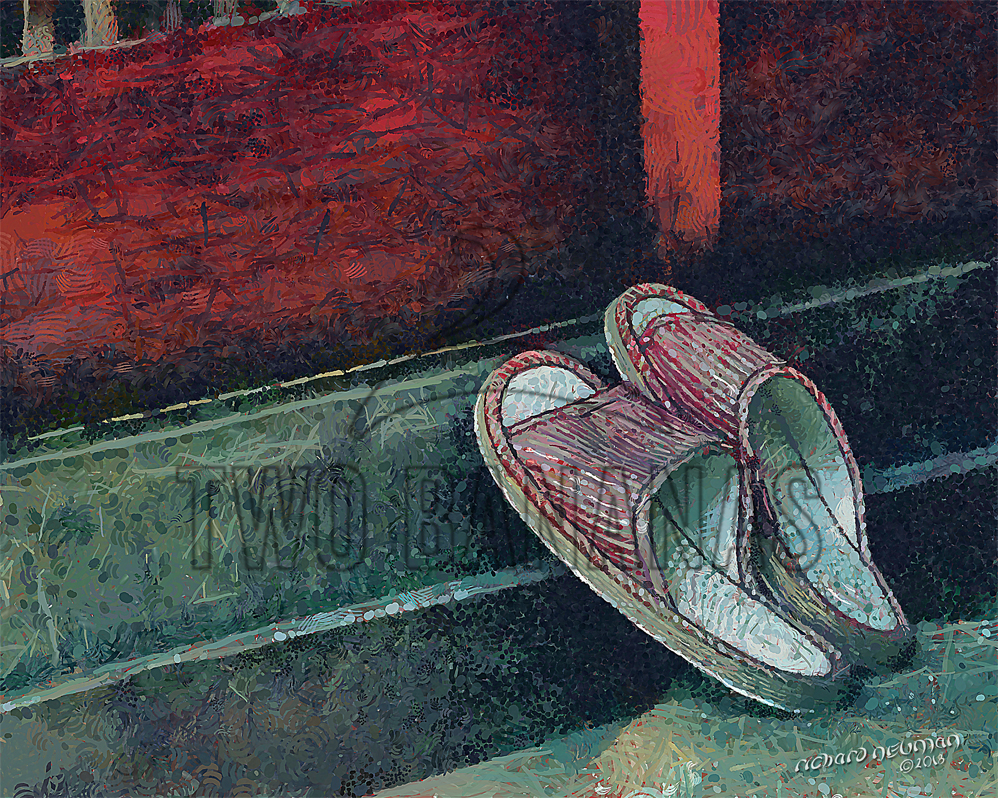 Visitor Shoes At Front Door Kyoto Japan DIY Download Print Millennial Impressionist Richard Neuman Two Bananas Art