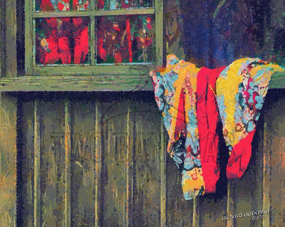 Dress Shop Window Okinawa Japan DIY Download Print Millennial Impressionist Richard Neuman Two Bananas Art