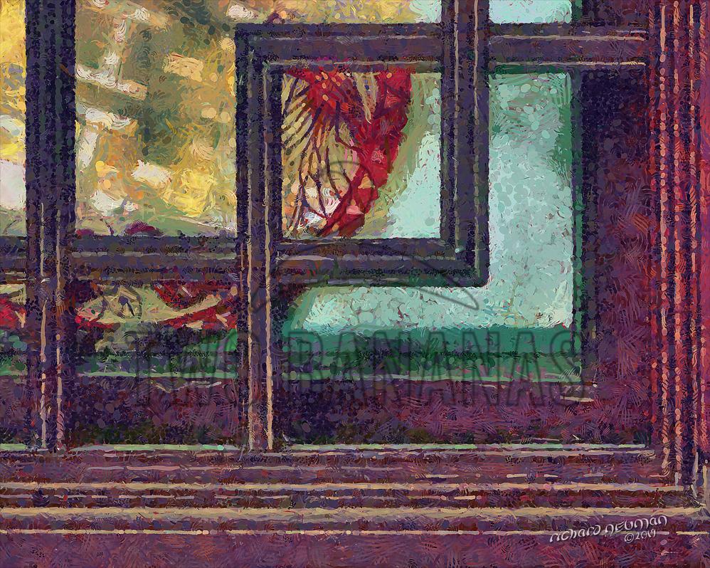 Shop Window Little Wild Goose Pagoda Xian China DIY Download Print Millennial Impressionist Richard Neuman Two Bananas Art