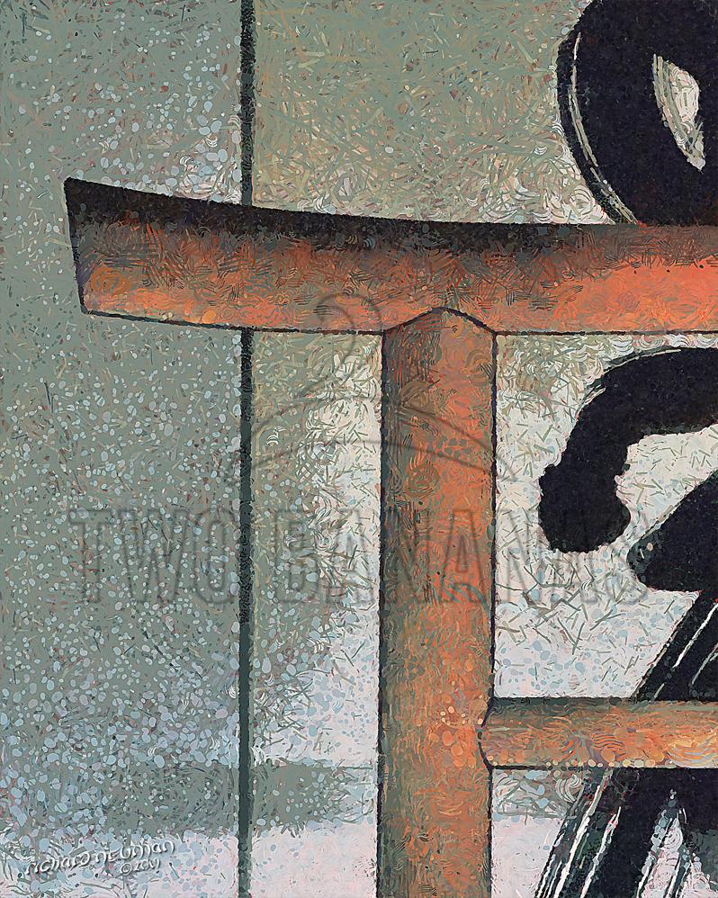 Temple Wall Caligraphy Koyasan Japan DIY Download Print Millennial Impressionist Richard Neuman Two Bananas Art